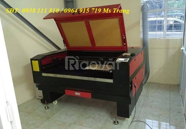 Máy laser cắt khắc gỗ, máy cắt khắc laser 1610 - 2 đầu
