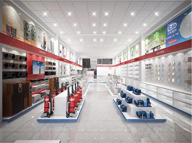 Thiết kế  không gian siêu thị điện máy (ảnh 1)