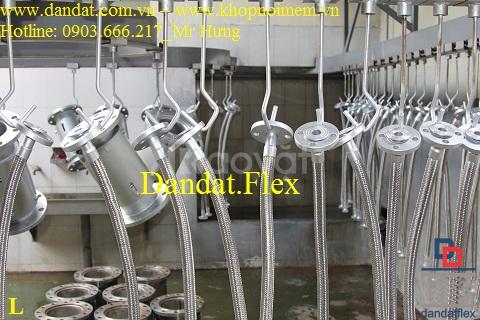 Khớp nối mềm có mặt bích PN10 inox 304, khớp chống rung