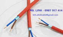 Cáp tín hiệu chống cháy 2 lõi + 1 tiếp địa/ Fire resistant cable