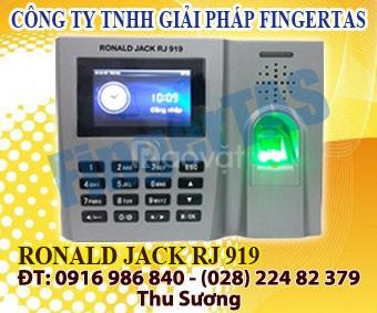 Phân phối máy chấm công vân tay thẻ cảm ứng rj 919 hàng mới 100%