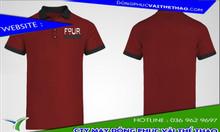 Công ty may áo thun đồng phục màu đỏ đô