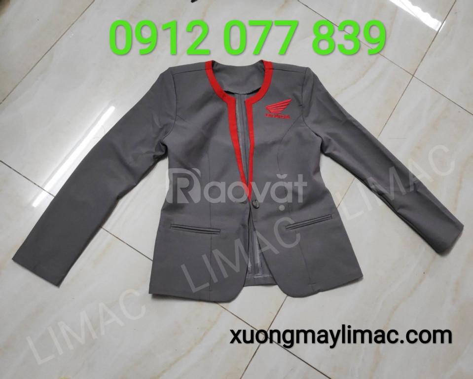 Áo vest đồng phục honda màu xám
