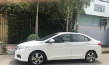 Honda City AT Model 2015 màu trắng, biển HCM