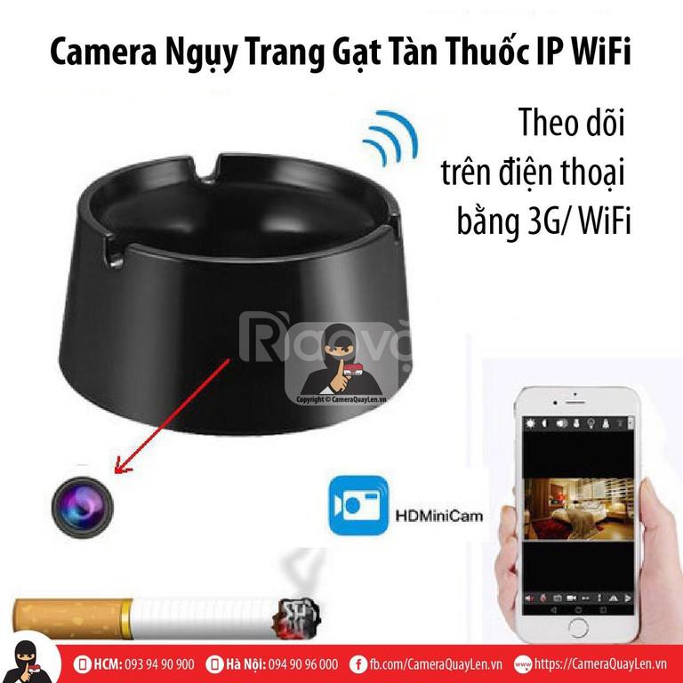 Camera gạt tàn thuốc ngụy trang quay lén xem trên điện thoại