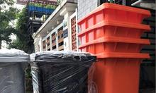 Thùng rác y tế đạp chân 120 lít,thùng rác y tế 240 lít màu đen