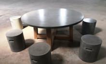 Thanh lý bàn ghế bê tông nhẹ, giá rẻ (bàn tròn, đôn tròn)