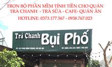 Lắp trọn bộ phần mềm tính tiền cho quán trà chanh tại Thái Bình