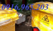 Xe thu gom rác 660l màu vàng