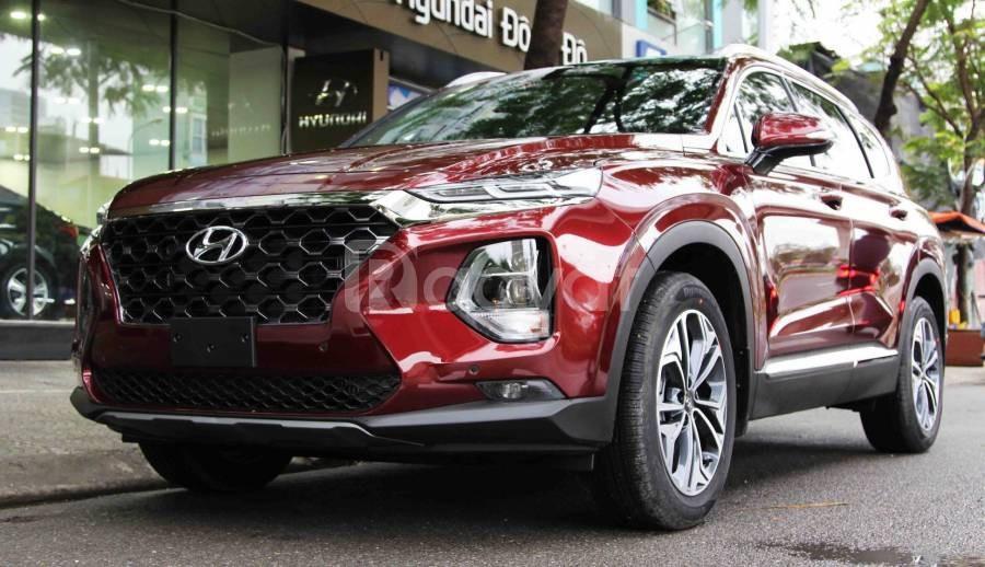 Hyundai Santafe 2019 dầu cao cấp màu đỏ