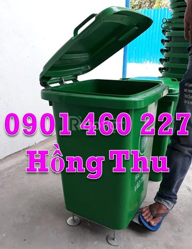 Thùng chứa rác 3 ngăn thùng đựng rác 60 lít thùng rác nhựa composite 2