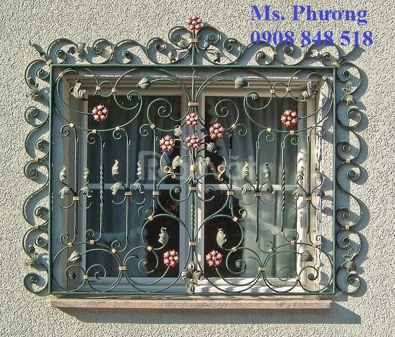 Nhận gia công Khung bảo vệ cửa sổ sắt cnc, sắt uốn nghệ thuật bền, đẹp