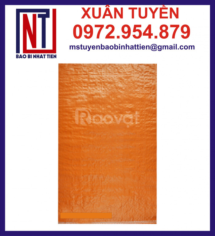 Bao PP dệt màu cam đựng 25kg, 50kg (ảnh 3)