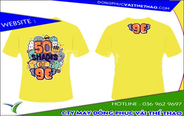 Xưởng may áo thun đồng phục màu vàng nhạt