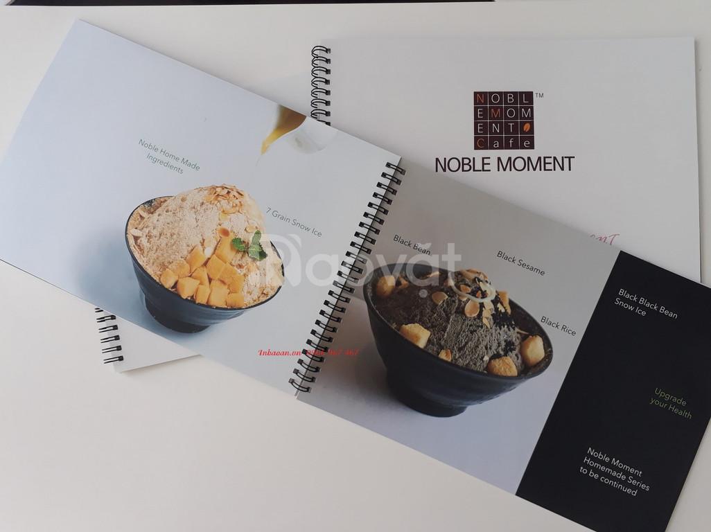In menu nhựa, thiết kế quyển menu, in menu nhà hàng
