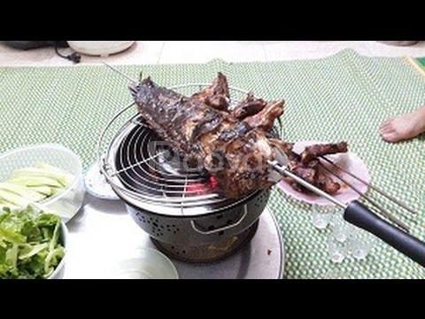 Bếp nướng than hoa inox Nam Hồng Bn300 để bàn, bếp nướng không khói