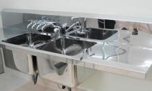 Bồn rửa dụng cụ 2 hộc cho phòng mổ treo tường