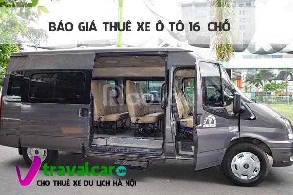 Bất ngờ với giá thuê xe ô tô 16 chỗ đi Đồ Sơn