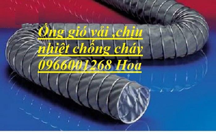 Ống gió vải chống cháy bọc silicon chịu nhiệt cao D100,D150,D200