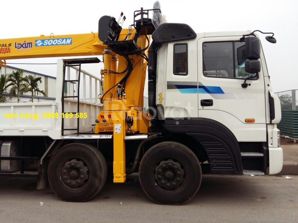Xe tải HD320 gắn cần cẩu 12 tấn Soosan Hàn Quốc ở Tuyên Quang