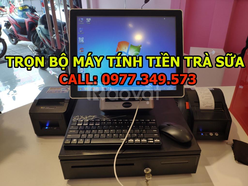 Bán máy tính tiền cảm ứng cho quán trà chanh tại TpHCM