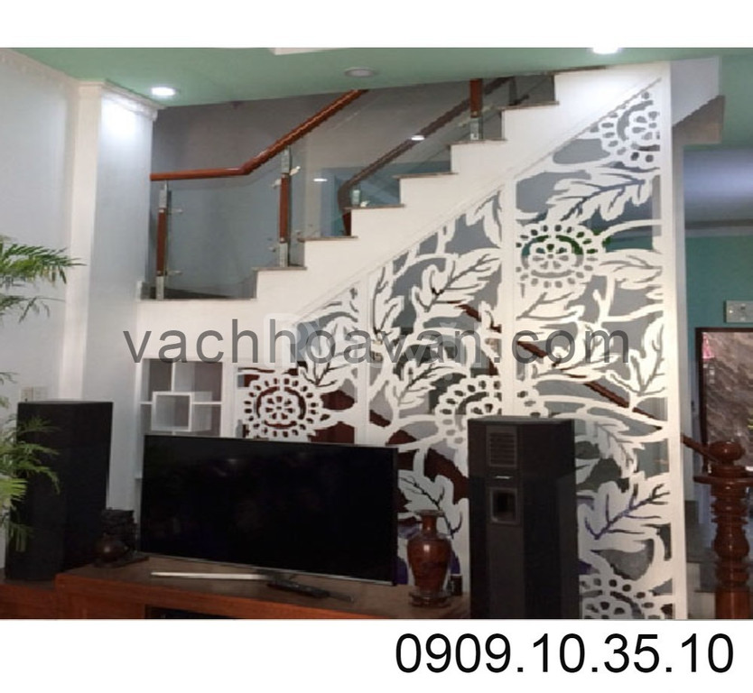 Lam gỗ nội thất và những mẫu vách ngăn cầu thang hiện đại