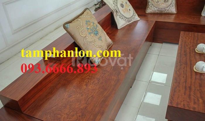 Sofa góc gỗ nguyên tấm cao cấp