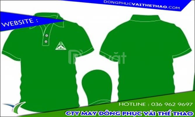 Đặt may áo thun đồng phục màu xanh két