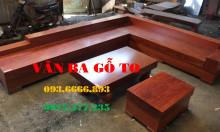 Sofa góc gỗ nguyên khối cao cấp