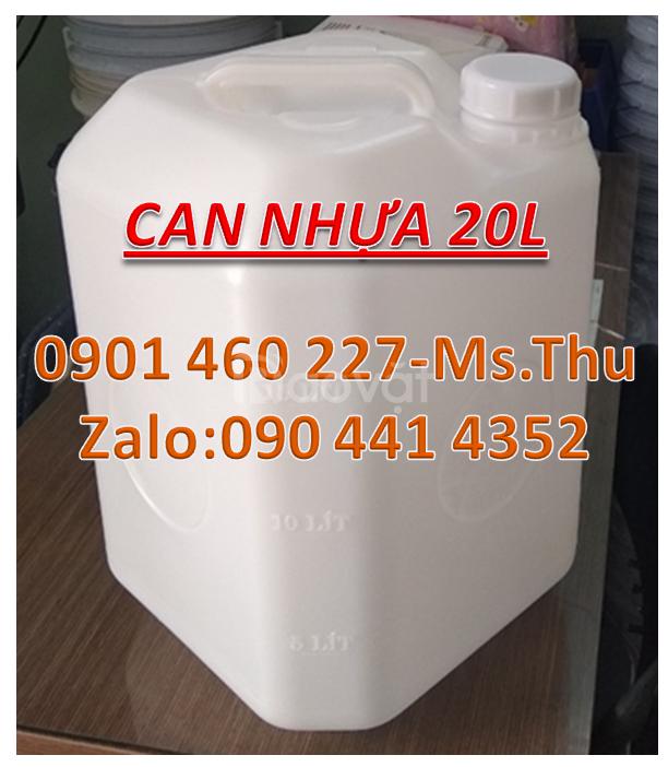 Can hoá chất 30 lít,can 25 lít vuông trắng,can nhựa 20 lít,can 10 lít