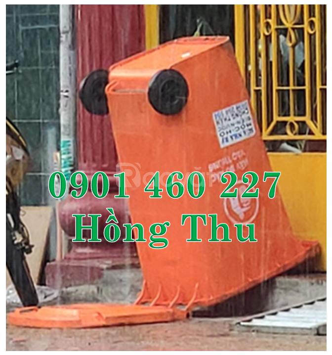Thùng rác 120 lít đạp chân bằng sắt,thùng đựng rác 240 lít cao cấp