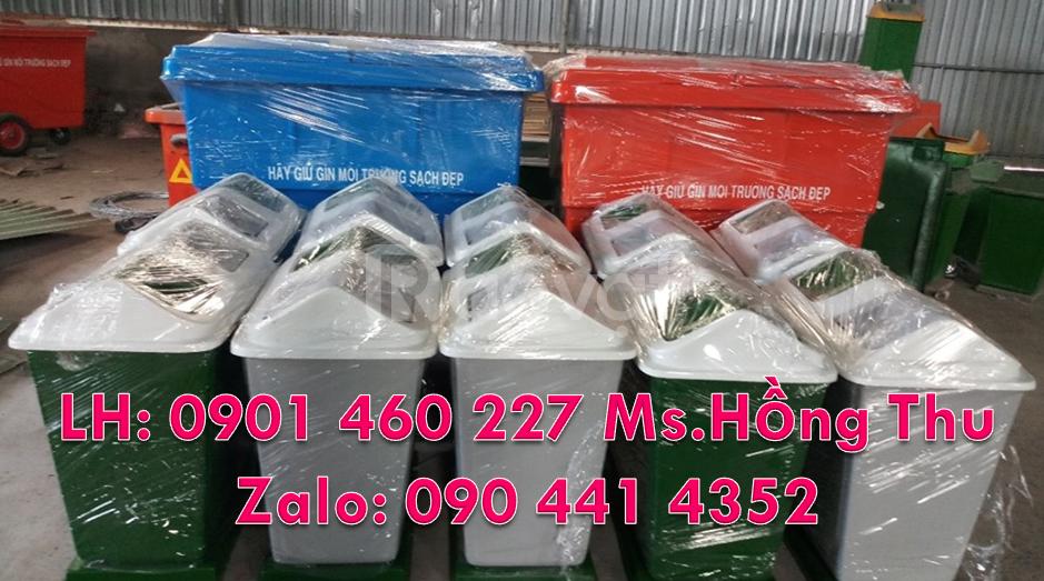 Thùng nhựa đựng rác 3 ngăn,thùng rác nhựa 2 ngăn composite
