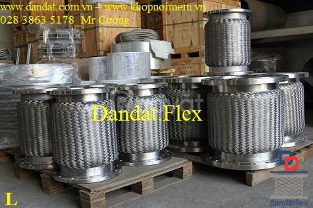Khớp nối mềm inox lắp bích, khớp chống rung inox 304 (ảnh 7)