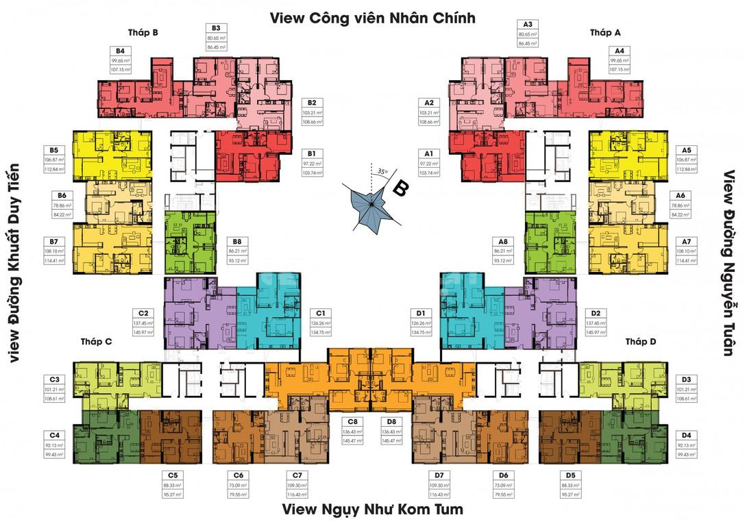 Bán chung cư Việt Đức Complex, 80m2, nhận nhà ngay