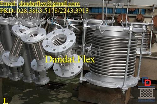 Khớp nối mềm inox lắp bích, khớp chống rung inox 304 (ảnh 6)