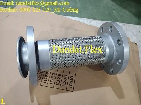 Khớp nối mềm inox lắp bích, khớp chống rung inox 304 (ảnh 8)