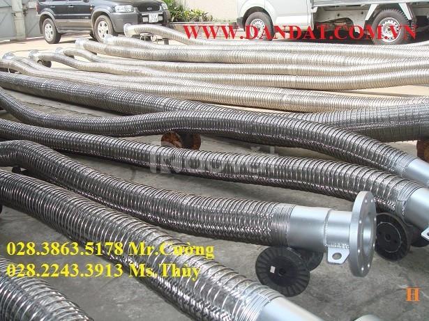 Khớp nối mềm inox lắp cho ống phi 34, khớp nối mềm inox nối bích