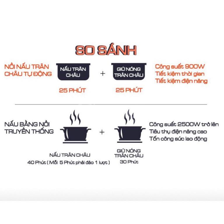 Nồi nấu ủ trân châu tự động 5L chất lượng giá rẻ