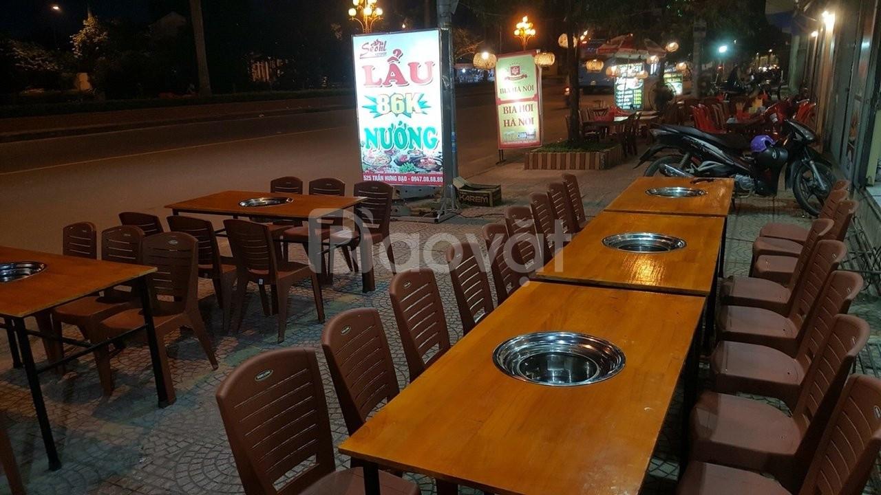 Bếp nướng than hoa âm bàn, bếp nướng inox hàng Việt Nam giá rẻ