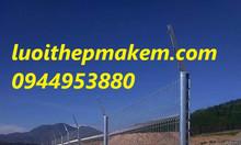 Hàng rào lưới thép mạ kẽm, sơn tĩnh điện chấn sóng trên thân