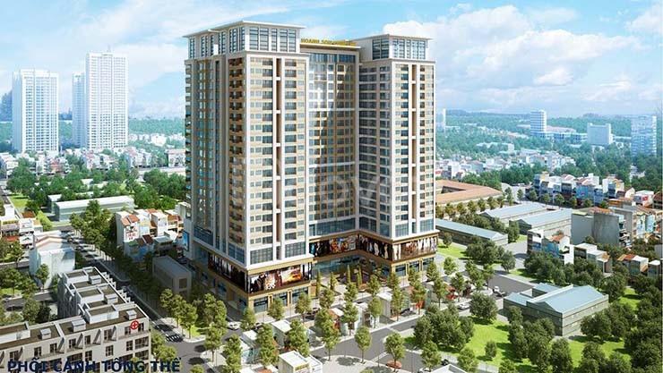 Cho thuê căn hộ 2 PN chung cư 282 Nguyễn Huy Tưởng 6tr/tháng