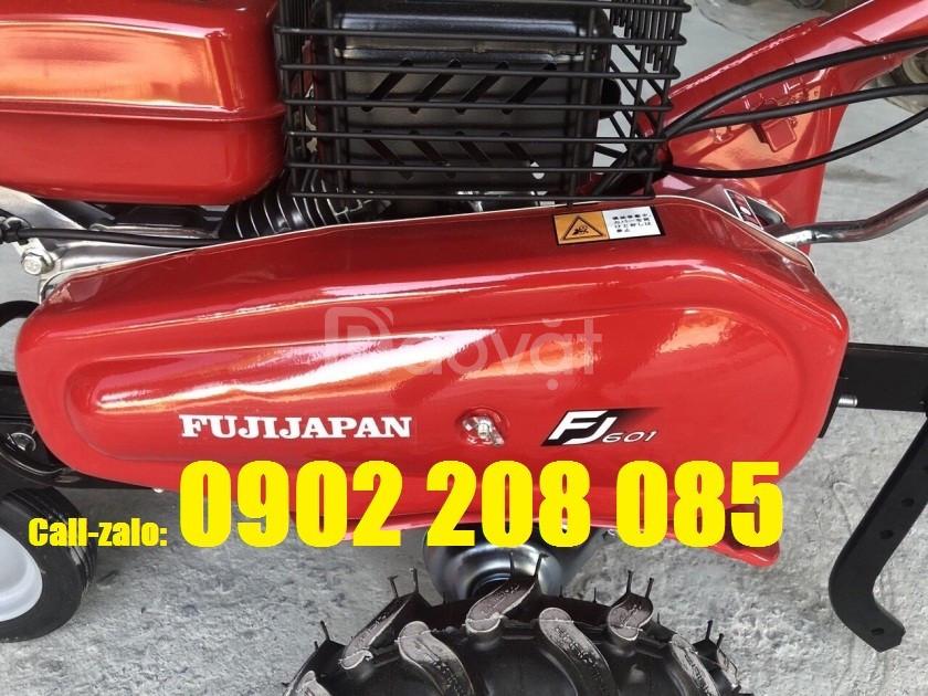 Chức năng bơm nước rửa xe của máy xới đất fuji 601 Nhật Bản
