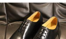 Giày da nam oxford công sở nguyên miếng da bò