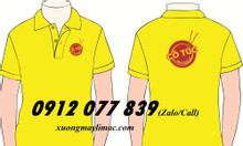 Áo thun nhân viên quán màu vàng, xưởng may đồng phục giá rẻ