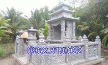 Lăng mộ đá khối gia tiên xây tại Bắc Giang