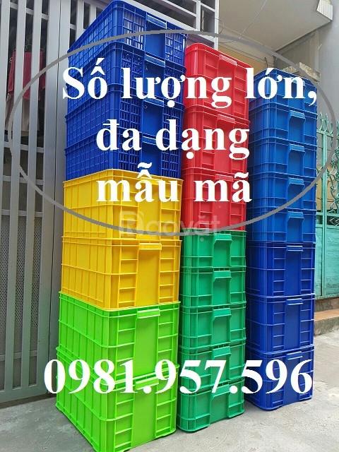 Sóng nhựa hỏ, thùng nhựa hở, sọt nhựa, rổ nhựa HS012