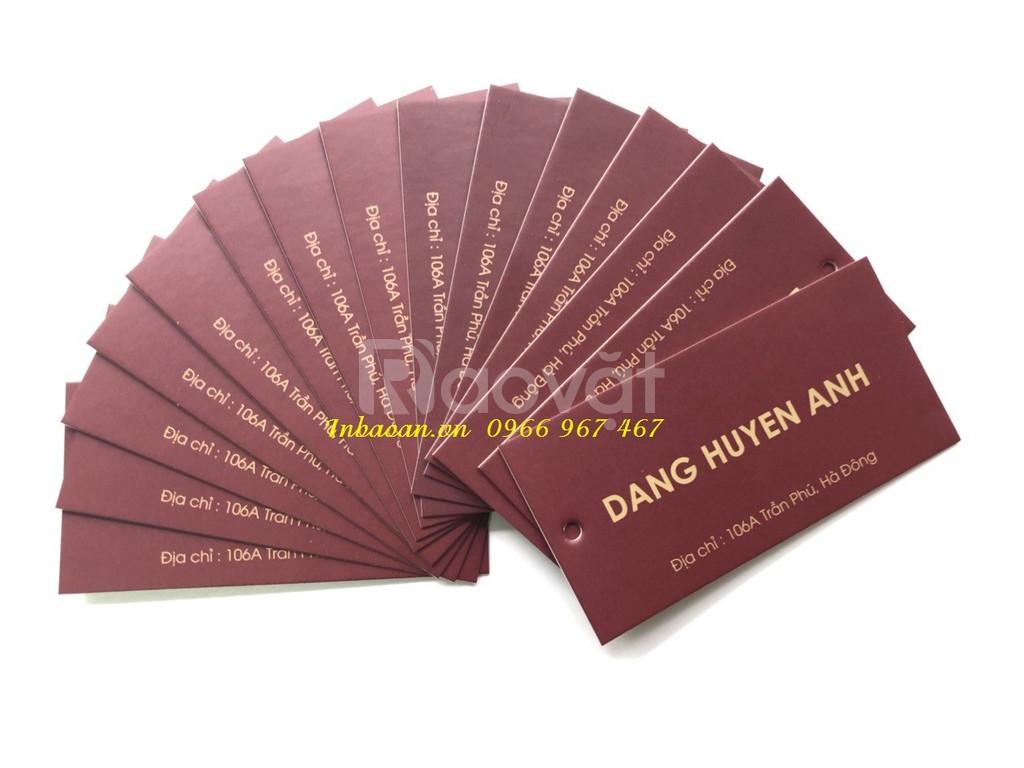 In tag giấy thời trang, báo giá in mác giấy, địa chỉ in tag giấy