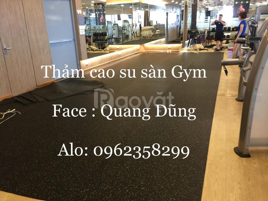 Thảm cao su phòng gym cao cấp