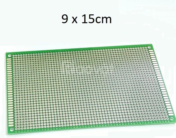 Test board hàn, bản mạch hàn 2 mặt 9x15cm sợi thủy tinh