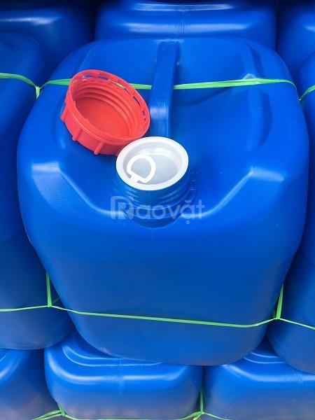 Can hoá chất 20l, thùng nhựa 20l nắp geranty